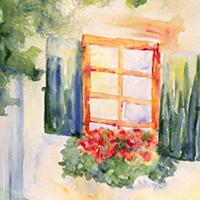 Ablak nyári színekben