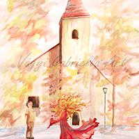 Ősszel a hédervári Boldogasszony kápolnánál