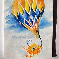 Hőlégballonozó limimi (manó)