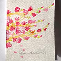 Virágzó cseresznyefaág
